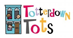 Totterdown Tots logo with house and small children looking through the windows