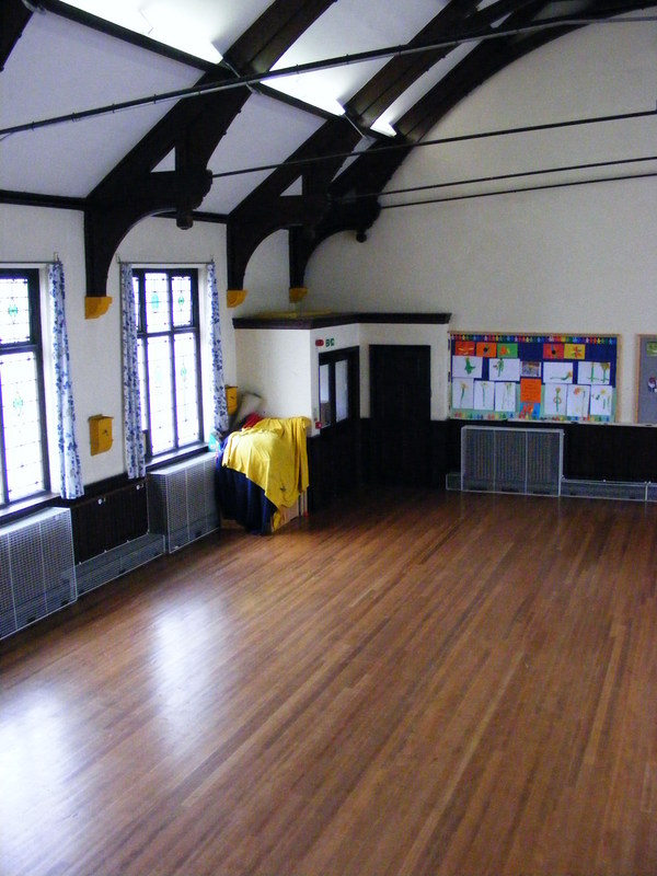 Left hand view of the Jarman Hall from the stage